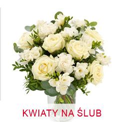 Kwiaty na ślub z dostawą bukiety ślubne gratulacyjne