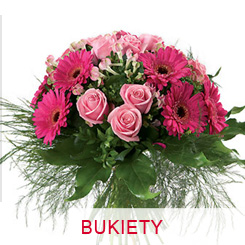 Bukiety okolicznościowe na urodziny imieniny gratulacje
